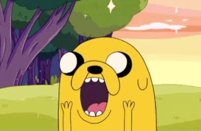 Adventure time, amazed, jake, omg, whoa, woah, wow, Jake the Dog GIFs