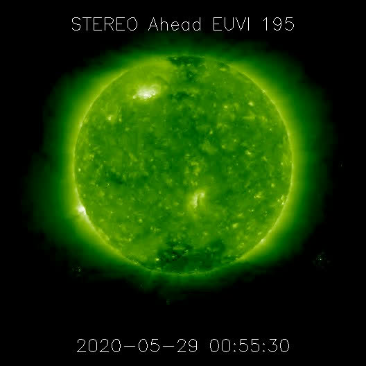 Watch and share M1.1 Solar Flare May 29, 2020 - East Limb - NASA/STEREO-A GIFs by The Watchers on Gfycat