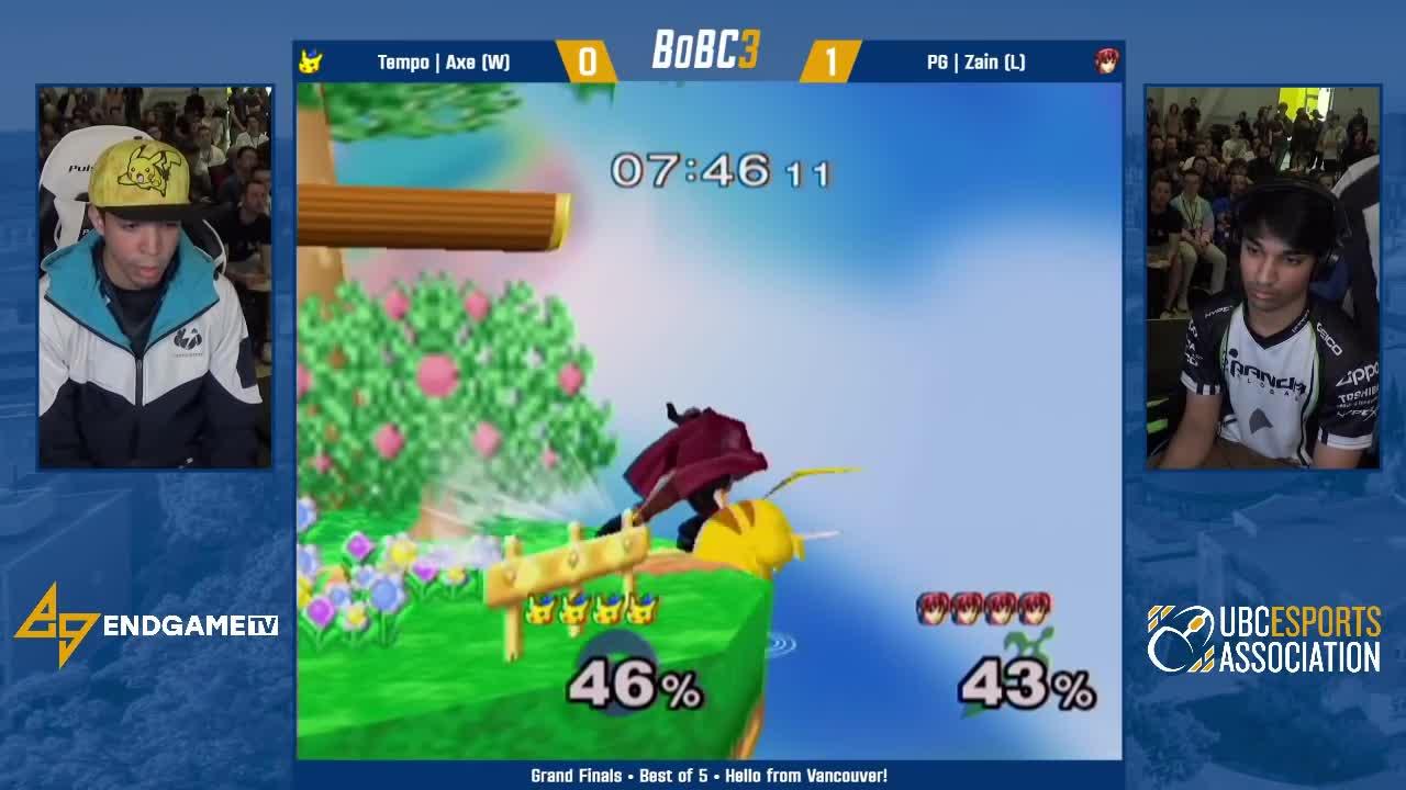 EGTV, EndGameTV, Gaming, Nintendo, Smash, Splatoon, smashgifs, ssmb, Tempo Axe (Pikachu) vs PG Zain (Marth) | Grand Finals | Battle of BC 3 GIFs