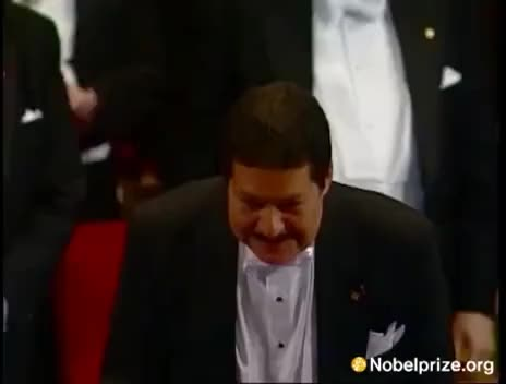 Watch and share Ahmed Zewail Receives His Nobel Prize GIFs on Gfycat