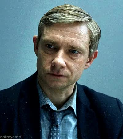 Watch and share Lester Nygaard GIFs and Martin Freeman GIFs on Gfycat