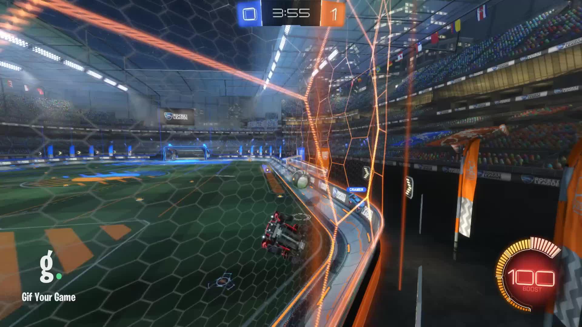 Gif Your Game, GifYourGame, Goal, Rocket League, RocketLeague, noir, Goal 2: noir GIFs