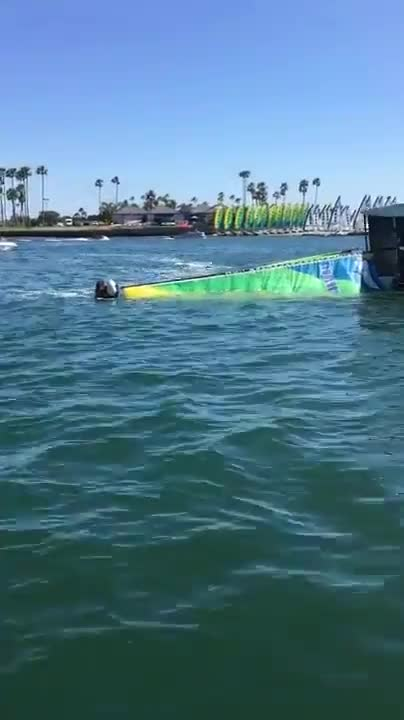 Watch and share Guy With Jetboard Rights A Catamaran GIFs by bambule on Gfycat