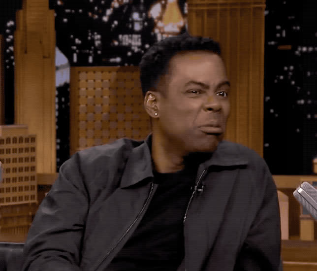 bitter, chris, disgust, ew, ewww, fallon, funny, hmm, jimmy, lol, maybe, not, rock, see, show, sour, tonight, uncertain, we'll, will, Chris Rock - Maybe GIFs