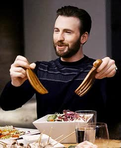Watch and share Chris Evans GIFs and Salad GIFs on Gfycat