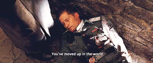 Watch this inglourious basterds GIF on Gfycat. Discover more 1k, christoph waltz, col. hans landa, cw*gifs, inglourious basterds, quentin tarantino, shomangaka: gifs, til schweiger, tvnfilms GIFs on Gfycat