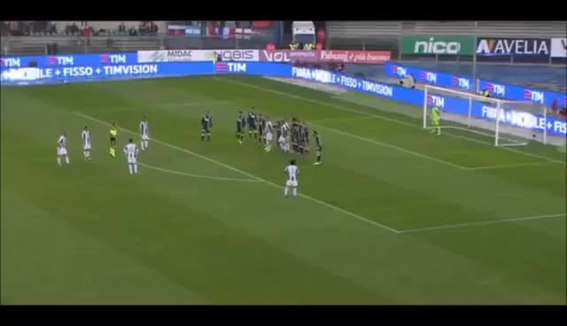 Watch and share Chievo Verona Vs Juventus 1-2 Miralem Pjanic Goal GIFs on Gfycat