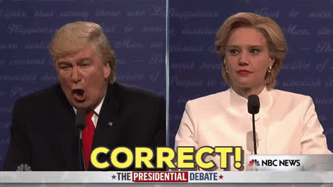 alec baldwin, correct, kate mckinnon, snl, That is correct GIFs
