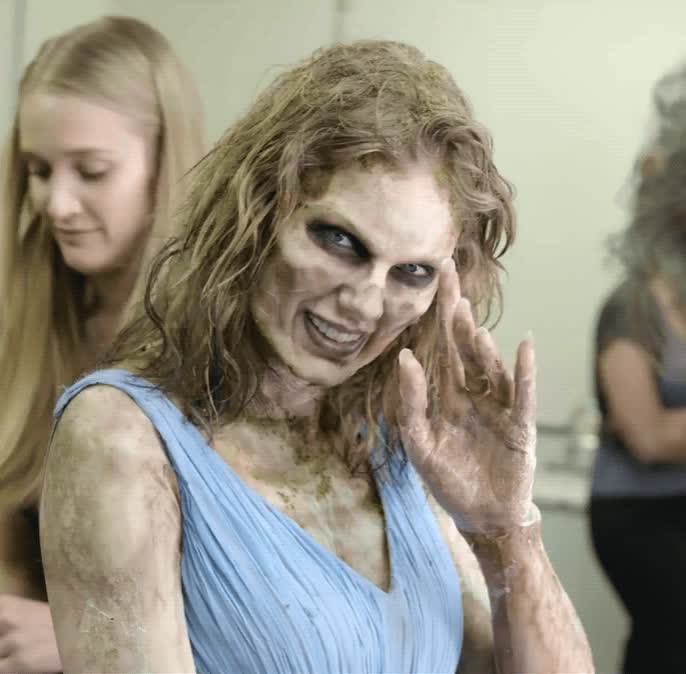 creepy, hello, hi, look what you made me do, lwymmd, music video, taylor swift, wave, zombie, Zombie Taylor Wave - Behind the Scenes GIFs