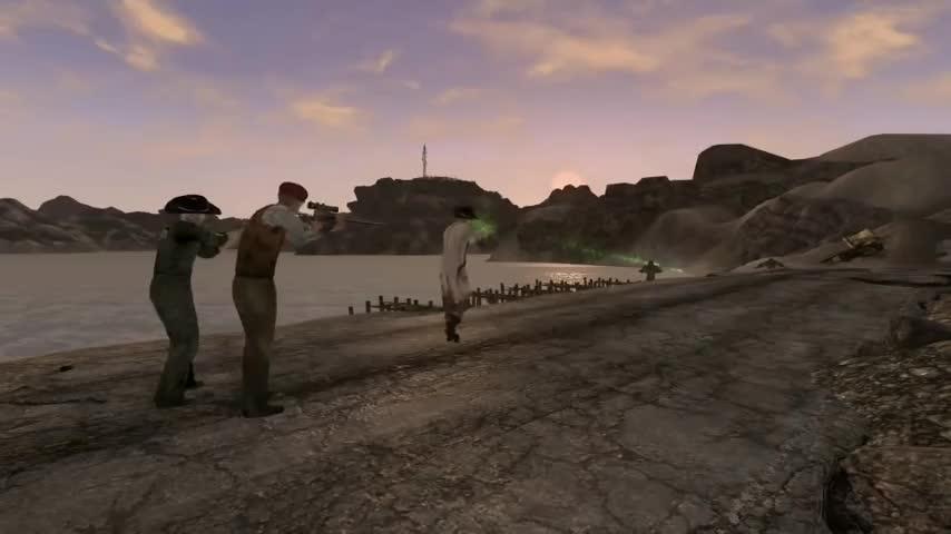 Arcade, Boone, Craig, Fallout, Gannon, New, Vegas, dance, dancing, mod, Craig Boone knows dance. (Fallout:New Vegas) GIFs