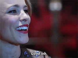 good job, rachel mcadams,  GIFs