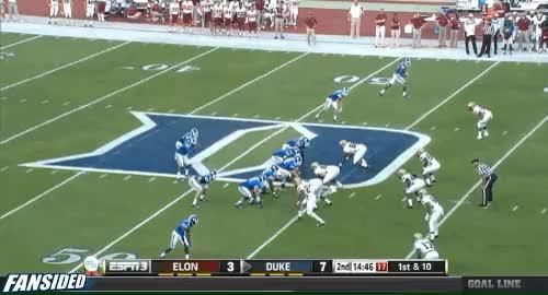 Duke QB Anthony Boone hits Jamison Crowder for a 46-yard TD pass