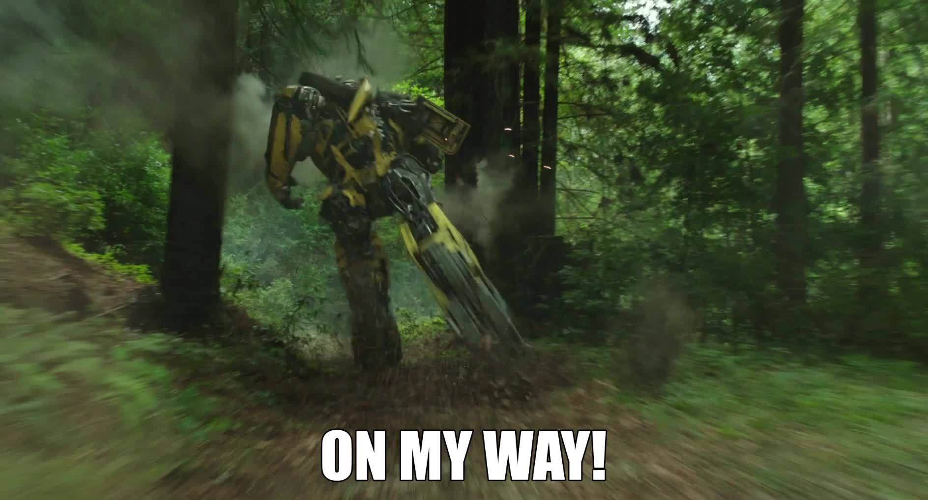 bumblebee, bumblebee movie, bumblebeemovie, omw, on my way, transformers, On My Way! GIFs
