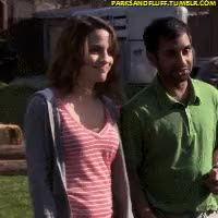 Watch and share Natalie Morales GIFs and Aziz Ansari GIFs on Gfycat