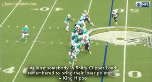 Watch At least somebody in Shitty Clipper Land remembered to bring their laser pointer…. - King Hippo GIF by Unsurprised (@unsurprised) on Gfycat. Discover more 2, 2017 season, 2017 season week 2, chargers, dfo, dolphins, door flies open, doorfliesopen, doorfliesopen.com, football, jay cutler, l.a. chargers, la chargers, los angeles chargers, miami dolphins, nfl, quotables, roger goodell is a national disgrace, week 2 GIFs on Gfycat