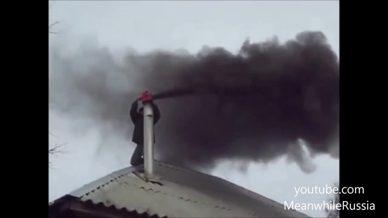 anormaldayinrussia, Don't have a brush to clean your chimney? Why not use a leaf blower? (reddit) GIFs