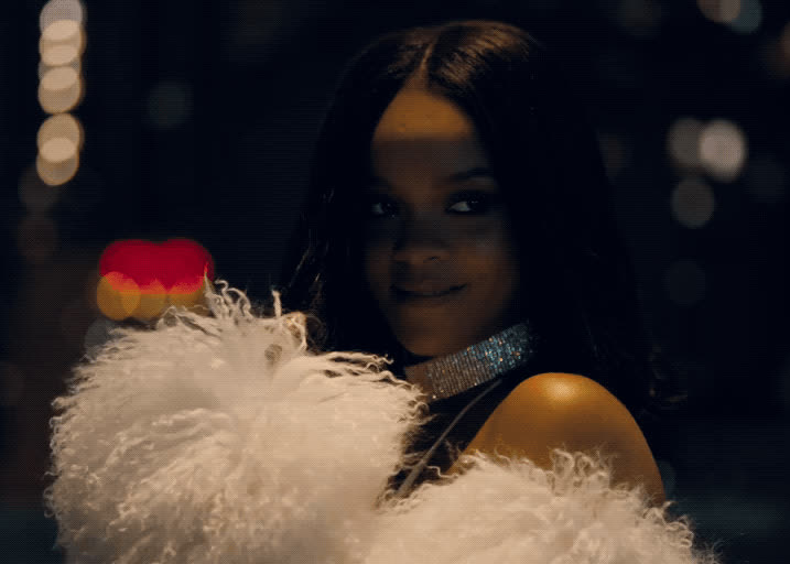 flirt, giggle, loyalty, music, music video, rihanna, riri, robyn rihanna fenty, smile, Rihanna - Loyalty GIFs