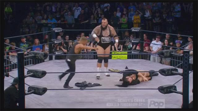 Rockstar Spud unable to throw a chair into the ring