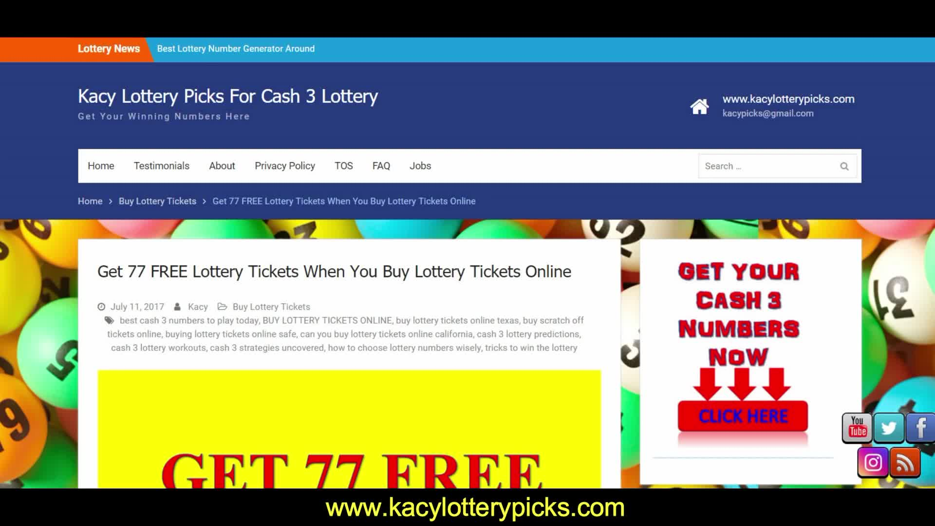 CASH 3 LOTTERY PREDICTIONS FOR SEPTEMBER 2018