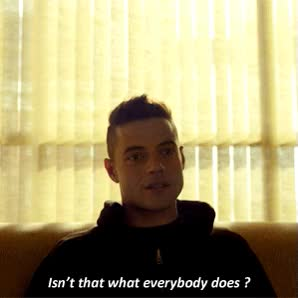 Watch this mr robot GIF by Reaction GIFs (@sypher0115) on Gfycat. Discover more Mr Robot, Show, mr robot, series, show GIFs on Gfycat