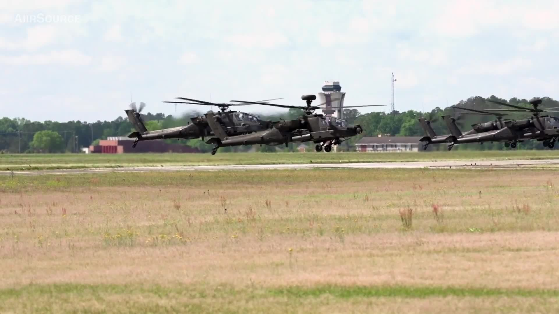 ah-64d, apache, militarygfys, AH-64 Apache Helicopters Mass Launch GIFs