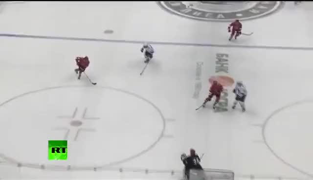 Watch Putin scores GIF on Gfycat. Discover more hockey, russia, sochi, vladimir putin GIFs on Gfycat