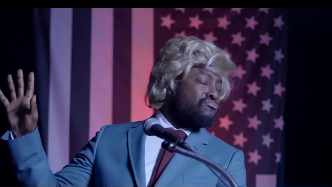 Funny or Die, apl.de.ap, election 2016, grab, hand, liane v, pussy, trump, will.i.am, Talk to the Hand - Will.i.am Trump GIFs