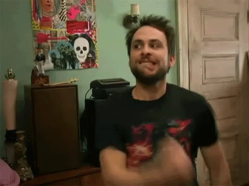 charlie day, eat, eat GIFs