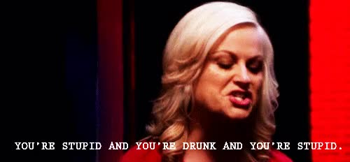 Watch and share Leslie Knope GIFs and Drunk GIFs on Gfycat