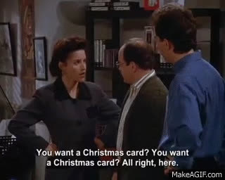 Seinfeld The Christmas Card The Nipple Gif Find Make Share