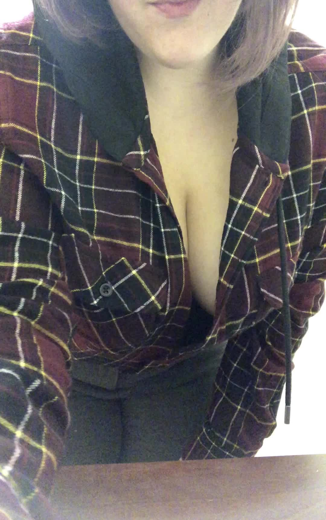eelin myself - Went no bra and no panties today :)