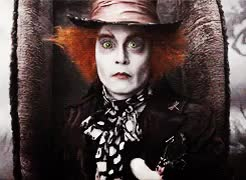 Watch and share Alice In Wonderland GIFs and Johnny Depp GIFs on Gfycat