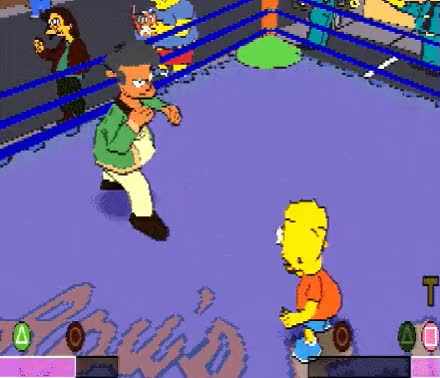 Watch The Simpsons WrestlingPublisher: Activision (NA), Electronic Arts (EU)Developer: Big Ape ProductionsPlatform: PlayStationYear: 2001 GIF on Gfycat. Discover more related GIFs on Gfycat