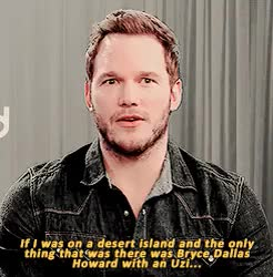 Watch for survival GIF on Gfycat. Discover more bryce dallas howard, bryce: interview, chris pratt, i love them so much, mine: gif GIFs on Gfycat