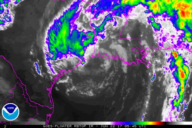 Watch and share Tropical Storm Cindy Post Landfall - June 22, 2017 GIFs by The Watchers on Gfycat