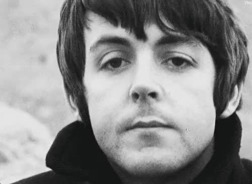Watch this trending GIF on Gfycat. Discover more Paul McCartney, black and white, b&w, cute, george harrison, john lennon, love, music, ringo starr, the beatles GIFs on Gfycat