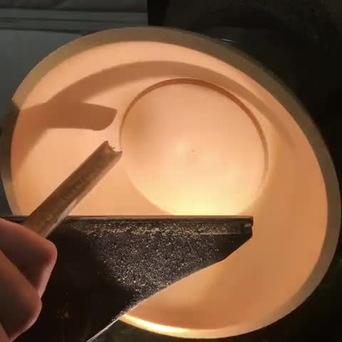 bowl, oddly satisfying, oddlysatisfying, woodworking, Finishing a wooden bowl bottom GIFs