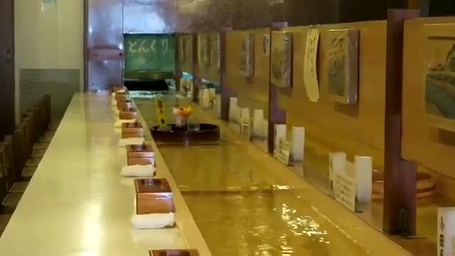 Lại là Nhật Bản: Nhà hàng vận chuyển đồ ăn bằng dòng nước ảnh 2