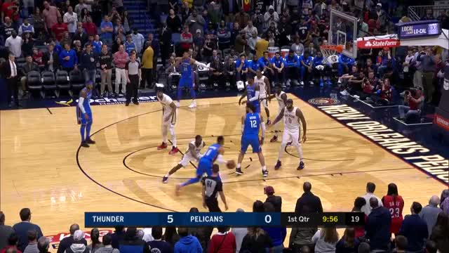 Watch and share Pelicans PG3 Melo Ast GIFs by upthethunder on Gfycat