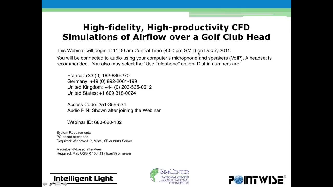 All Tags, CFD, Golf, aerodynamics, airflow, navier-stokes, pointwise, post-processing, High-fidelity, High-productivity CFD Simulations of Airflow over a Golf Club Head GIFs