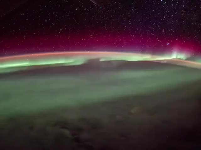 Watch and share Aurora From Space GIFs by The New Paper on Gfycat