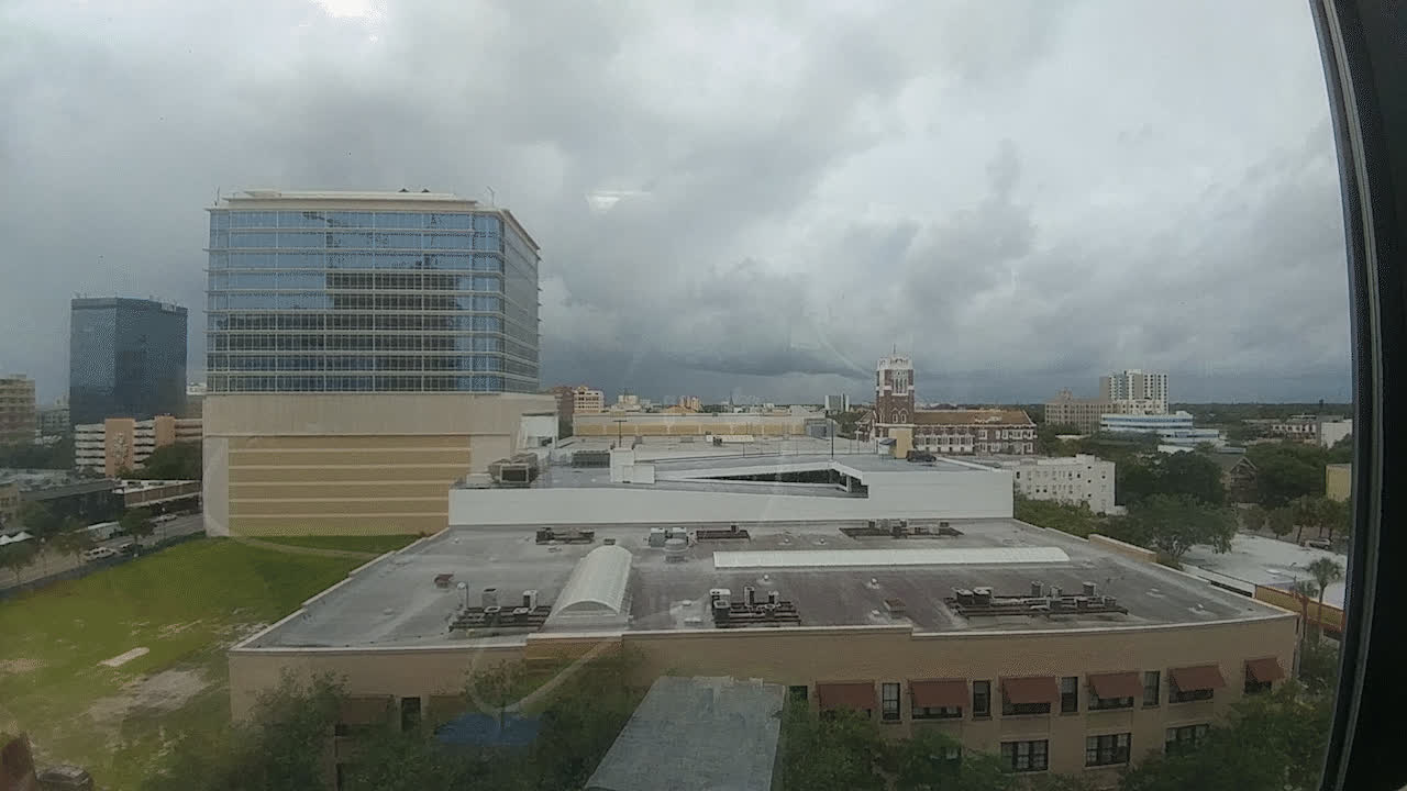 clouds, rain, storm, timelapse, weather, Rainstorm over downtown St.Pete GIFs