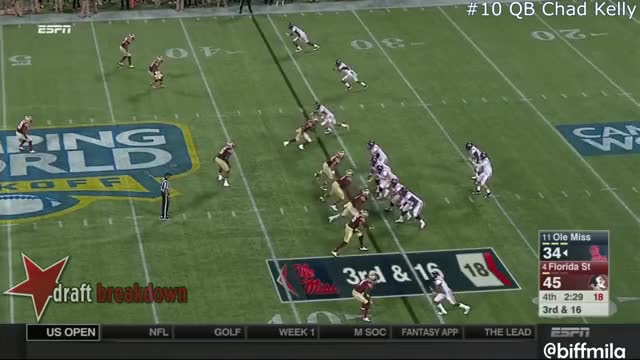 Watch and share Chad Kelly (Ole Miss) Vs. Florida State (2016) (INT) GIFs by Sean McKaveney on Gfycat