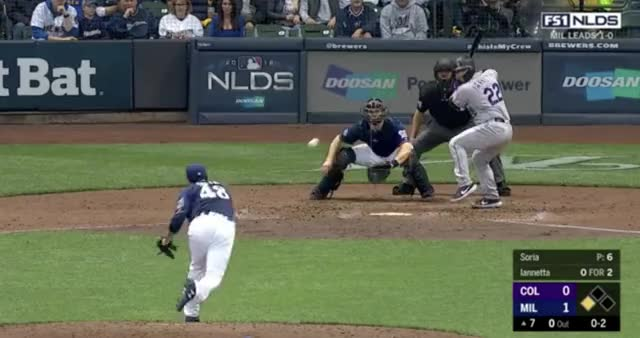 Watch this trending GIF on Gfycat. Discover more Colorado Rockies, Milwaukee Brewers, baseball GIFs on Gfycat