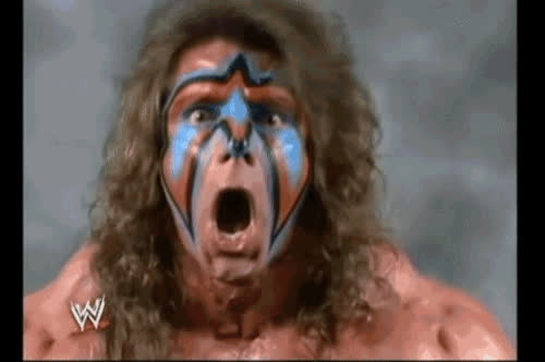 face, oh, reaction, ultimate warrior, wat, whoa, wow, wrestling, wwe, wwf, ultimate face GIFs