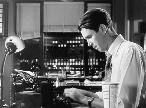 Watch this author GIF on Gfycat. Discover more author, james stewart, jimmy stewart, typewriter, typing, writing GIFs on Gfycat