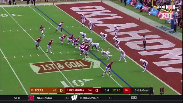 Watch Read RPO GIF by Pistols Firing (@pistolsfiring) on Gfycat. Discover more Big 12 Conference, Sports, red river showdown, sp:dt=2018-10-06T16:00:00+00:00, sp:li=cfb, sp:st=football, sp:ti:away=Tex, sp:ti:home=Okla, sp:ty=high, sp:vl=en-US GIFs on Gfycat