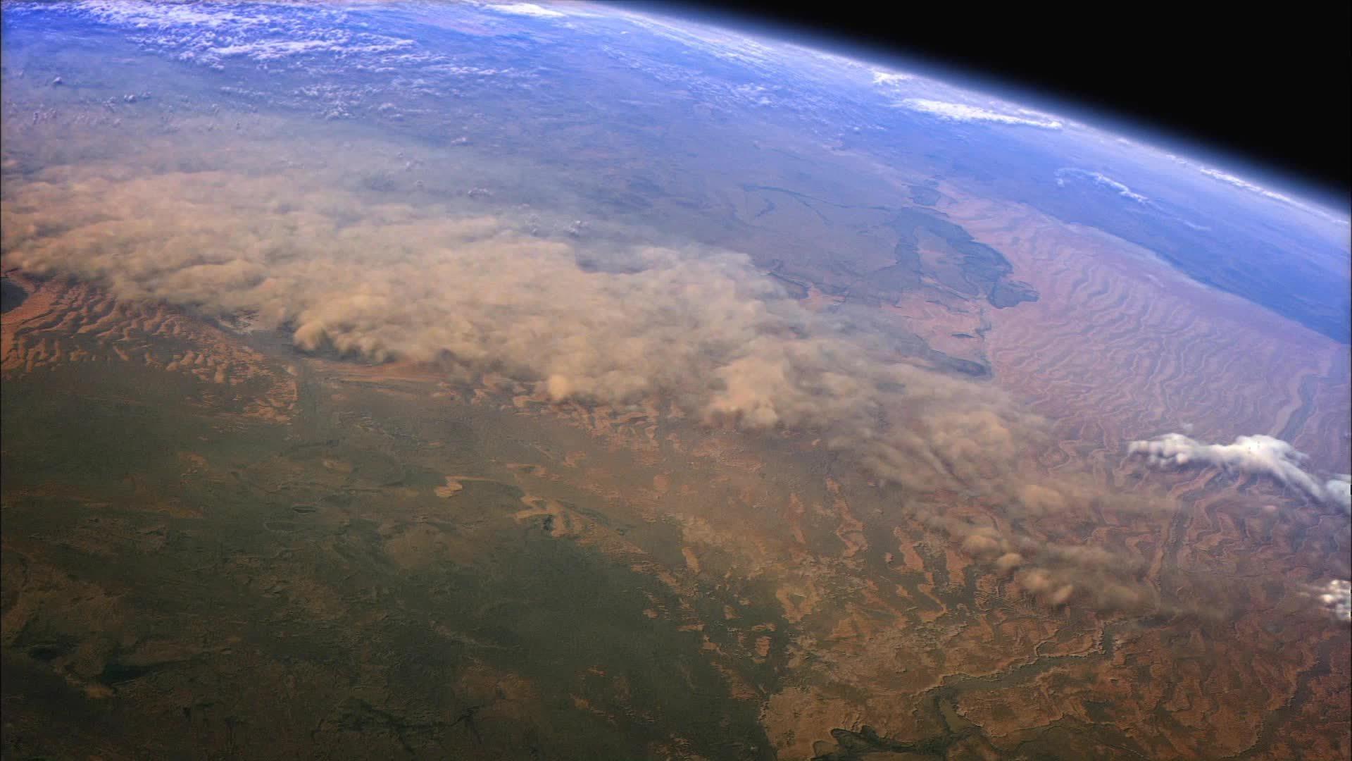 WeatherGifs, weathergifs, Sandstorm from space (reddit) GIFs