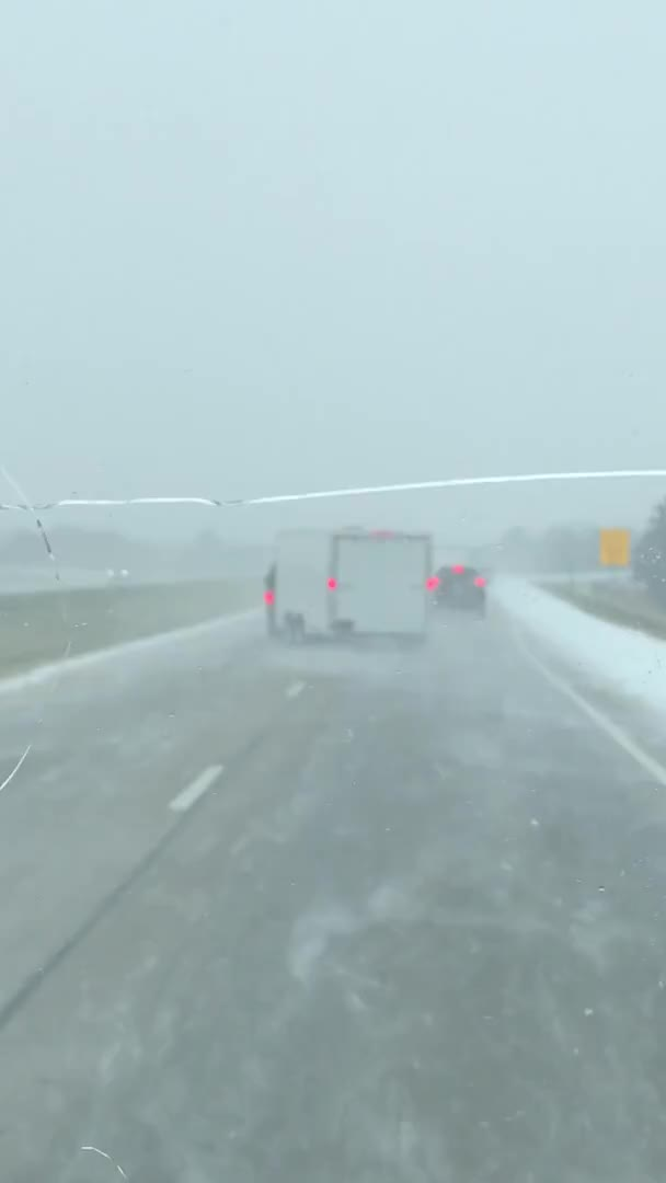 Watch and share Driver Fishtails On I 80 In Snowy Conditions GIFs by KSG on Gfycat