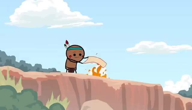 Watch and share Smoke Signals - Cyanide & Happiness Shorts GIFs on Gfycat